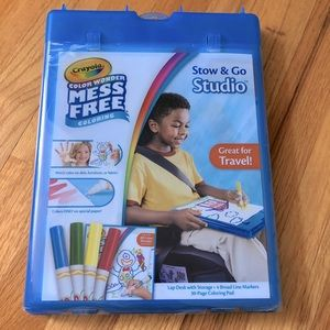 New! Crayola Color Wonder Stow and Go Studio